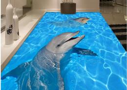 $enCountryForm.capitalKeyWord NZ - Dolphin effluent 3D floor painting stickers waterproof wallpaper for bathroom wall