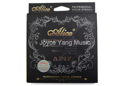 Alice A747 Professional Violin Strings Nickel-Plated High-Carbon Steel Nylon Core Silver&Aluminum Alloy Wound 1st-4th Strings on Sale