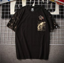 mens t shirts printing style 4xl NZ - 2020 New Fashion Mens Designer T-shirts Carton Star Style Print Mens Tops Loose Breathable Anti-pilling Mens T-shirts with Pocket M-4XL