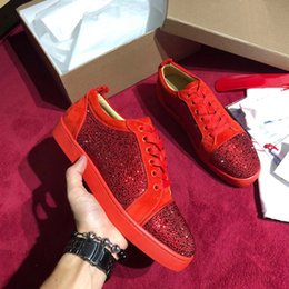 leather high Canada - 19 new Brand Low high Cut Suede Spikes Red Bottom Designer Luxury shoes Studded Flats shoes For Men Women Leather Party Designer Sneakers 09