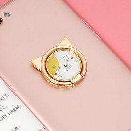 $enCountryForm.capitalKeyWord Canada - Hot! Phone Holder 360 Degree Ring Lovely cat Cell Phone Alloy Metal Ring Card Holders Mounts for iphone samsung free shipping
