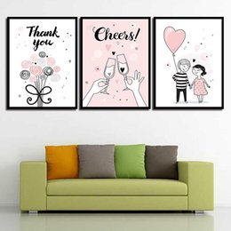Art Canvas Prints Australia - Paintings Princess Wall Art The Girl Glasses Cheers Modern Canvas Nordic Poster Prints HD Pictures For Kids Room Home Decor