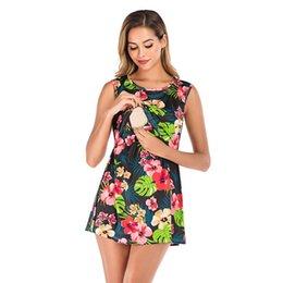 $enCountryForm.capitalKeyWord Australia - MUQGEW 2019 Women's Maternity Nursing Dress Fashion Print Round Neck Sleeveless Mini breastfeeding dress robe femme enceinte
