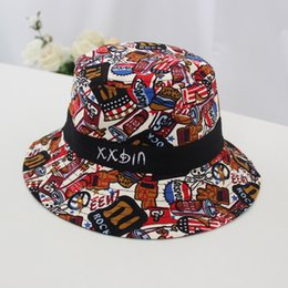 $enCountryForm.capitalKeyWord Australia - New fall 2019 flat-topped graffiti fisherman hat for children 1 to 2 year old children shading hat 4 colors 03