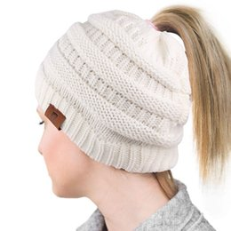 $enCountryForm.capitalKeyWord NZ - Student's knitted cap in autumn and winter, female warmth-keeping empty top wool cap, fashionable cold-proof headgear (random leather band)