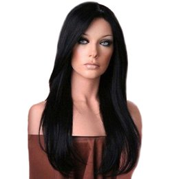 Hair Extensions & Wigs Synthetic None-lacewigs Romantic Black Wig Fei-show Synthetic Heat Resistant Carnival Halloween Costume Cos-play 26 Inches Long Curly Hair Female Party Hairpiece
