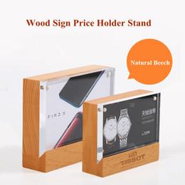 6*9cm Upright Clear Acrylic Magnetic Label Holder Stand L Shape Poster Banner Menu List Frame Advertising Black Sign Display Desk Accessories & Organizer Desk Set