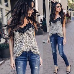 $enCountryForm.capitalKeyWord Australia - Fashion Summer Women Lace Leopard Print Shirt Sleeveless Chiffon Blouse Loose Casual Ladies Tank Tops Vest Clothes Femmel S-xxl