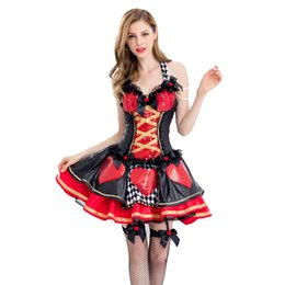 $enCountryForm.capitalKeyWord UK - Halloween theme cosplay red heart queen witch costume queen dress Alice Princess character costume game uniform