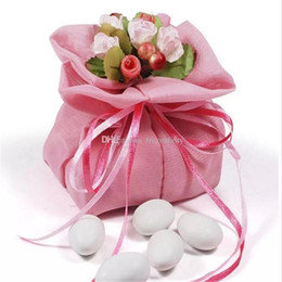 Sweet Valentine Gifts Australia - Wedding Favors and Gift Bag Cloth Yarn Bag Candy Sweet Chocolate Valentines Day Drawstring Birthday Party Decoration Wrap aa757-764 201712