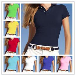 Женщины поло Стиль Classi Летняя мода маленькая лошадь вышивки качество высокое поло Хлопок Slim Fit Polos Лучшие повседневные рубашки поло на Распродаже