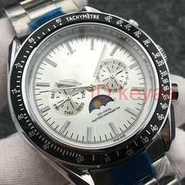 Wholesale Bracelet Top luxury Speed moon Mechanical Mens designer Stainless Steel Automatic Movement Watch Sports watches Self wind Wristwatches