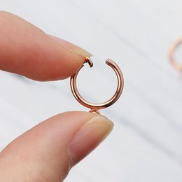 $enCountryForm.capitalKeyWord Australia - 10Pcs Brass Round Hoop Clip with Loop For Earring DIY Charms Jewelry Findings
