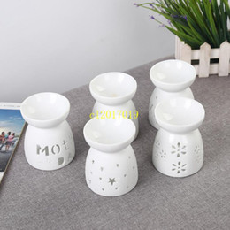 candle oil burner 2019 - Incense Burner Delicate Ceramic Fragrance Lamp Fashion Hollowed Out Aroma Stove Candle Oil Furnace Home Decor cheap cand