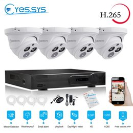 cable night vision NZ - eyes.sys 4pcs 3.0MP IP Night Vision Camera+H.265 4CH 4.0MP POE NET NVR Outdoor Surveillance Kits Security System FREE 20M CABLES