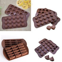 chocolate shells wholesale UK - DIY Chocolate Silicone Mould Smiling Face Shell Little Coke Mold Cake Chocolates Ice Lattice Molds Sell Well With Various Pattern XD23139