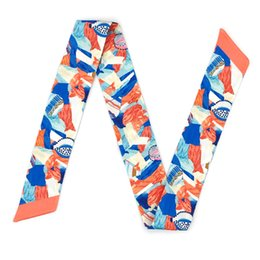 $enCountryForm.capitalKeyWord Australia - ELENI&ANNIE 34 Inch Hair Purse Handbag Wrap Handle Ribbion Wrist Wrap Summer Scarf,Scarves,Hair Band,Designer Scarf ,Designer Belts