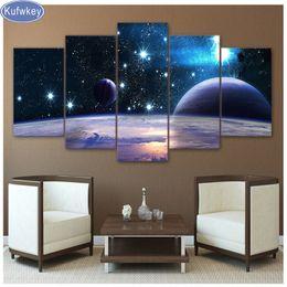 $enCountryForm.capitalKeyWord Australia - Full Square round drill 5D DIY Diamond Painting Universe Galaxy 5 Panel Space Planet,mosaic Diamond Embroidery Cross-Stitch,deco