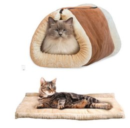 Multi Color Hand Bag Australia - Cat Tunnel Toy Cat Nest Funny Channel Sleeping Bag Pet Mat Foldable Small Dog Bed With Sounding Paper Pet Supplies