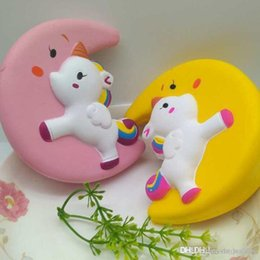moon toys UK - Slow Rising Squishy Unicorn Moon Icecream Flash Powder Kawaii Phone Charms Pendant Straps Christmas Gift Stress Reliever
