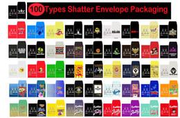 Großhandel 100 Typen Shatter Papierumschlag Verpackung Verschiedene Sorten Schlanke Shatter Packs Wachs-Konzentrat Verpackung SD-Karte Individuelle Münze Pack