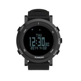 watches digital compass 2019 - SUNROAD outdoor sports men waterproof digital watch compass pedometer wristband nylon LED chronograph cheap watches digi