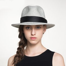 hat female beach NZ - wholesale 2019 Hot Sun Hats For Woman Foldable Hand Made Straw Hat Female Casual Shade Hat Summer Hat Beach Cap Visors Caps