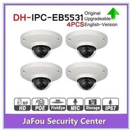 Build Camera Australia - DH IPC-EB5531 5MP Panoramic Network 1.4mm Fisheye Camera 4pcs lot H.265 H.264 3DNR AWB AGC BLC IP67 PoE Detect Built-in Mic