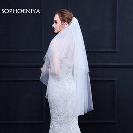 Cheap voile online shopping - New Arrival voile Ivory Bridal veil schleier voile mariage Sexy wedding veils wedding accessories welon Cheap velos de