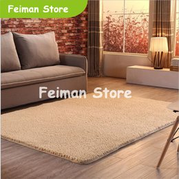 style for long black hair Australia - Soft Thicker Shaggy Long Hair Simple Large Carpets For Living Room Bedroom Rugs Home Carpet Japanese Style Floor Rug Door Mat