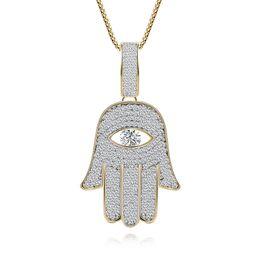 $enCountryForm.capitalKeyWord UK - 2019 New Hot Copper Zircon Pendant Necklace Buddhist Palm Silver Pendant Fashion Personality Necklace Wedding Jewelry
