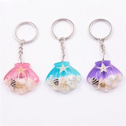 $enCountryForm.capitalKeyWord Australia - Key Netural Starfish Ring Key Chain KeyRing Crystal Pendant Keychain Women Wedding Birthday Party Gift Jewelry Souvenir