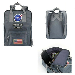 Backpack flag print online shopping - Brand New NASA US Backpack ss National Flag Designer Men Womens Travel School Bag Multifunction Bags Students Nylon Shoulderbag Handbag