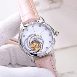 ladies digital watch leather strap Canada - lady watch luxury woman designer watches automatic mechanical movement wristwatches mother of pearl dial real leather strap christmas gift