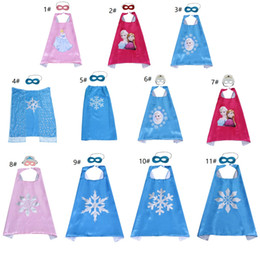$enCountryForm.capitalKeyWord NZ - Children's Capes and Masks Super Hero Chirstmas Party Costume Birthdy Dress Up Satin Double Layer For girls (11sets,22psc)