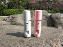 $enCountryForm.capitalKeyWord Australia - 10Pcs Nano Facial Mist Sprayer Cool Face Spray Steamer Mini USB Rechargable Facial Steamer with mirror Travel Moisturizing Face Sprayer
