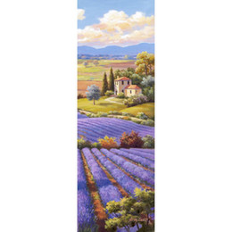 oil painting lavender wall art Australia - Colorful landscapes oil Paintings Fields Of Lavender flower canvas arts for wall decor Hand painted