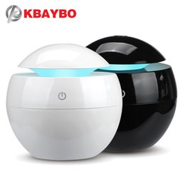 red oil light Australia - KBAYBO 130ML Ultrasonic aromatherapy essential oil diffuser home electric air purifier humidifier with 7 colors LED lights Y200416