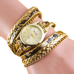 chain wrap watches NZ - 2018 montre femme New watch Fashion Wrap Around Bracelet Watches Crystal Synthetic PU Leather Chain women rhinestone wristwatch