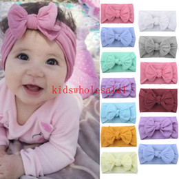 bandanas for head NZ - Newborn Toddler Baby Girls Head Wrap Rabbit Big Bow Knot Brand New Turban Headband Hair Accessories Baby Gifts for 0-2Y