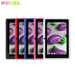 Q88 Dual Camera Australia - WeCool Q88 HD Kids Tablet PC 7 inch Screen 1024x600 Resolution 2500Mah Battery WIFI MID Android 4.4 OS 512MB 8GB Dual Cameras