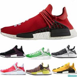Solar light S online shopping - NMD Human Race Outdoor Running shoes HU Pharrell Holi Williams Festival Scarlet Tangerline Yellow Solar Pack Mother BBC Men Shoes Designer S