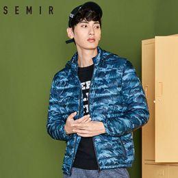 $enCountryForm.capitalKeyWord Australia - SEMIR Lightweight Down Jacket Men Winter Korean Version Short Handsome Camouflage Down Jacket Short Thin Light Male Outwears