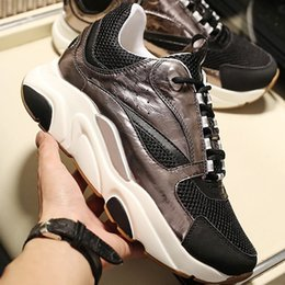 sneaker drop shipping NZ - Luxury Men Shoes Casual B22 Sneaker with Canvas And Calfskin Sneaker Chaussures pour hommes Breathable Fabric Men Shoes Fashion Drop Ship