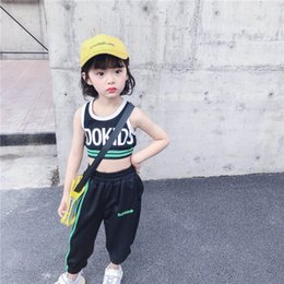 $enCountryForm.capitalKeyWord Australia - Girls suits kids tracksuit kids summer clothes girls tracksuit casual kid sweat suit kids designer clothes girls Vest+ Harem Pants A5872