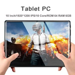 $enCountryForm.capitalKeyWord Australia - Hot 10 inch tablet pc Android 8.0 10 Core 6GB RAM 64GB ROM 1920*1200 IPS WIFI 2 SIM 3G 4G FDD LTE Phablet GPS Tablets pc 10.1