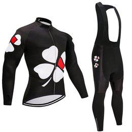 Discount cycling kits - Winter cycling jersey 2019 pro team France men's black bicycle clothing 9D gel pad bib pants kit ropa ciclismo invi