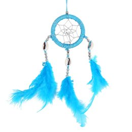 China craft brown {Factory Direct Sale} Handmade Dream Catcher Circular Net With Feathers Wall Hanging Decoration Decor Ornament Craft Gift cheap poles direct suppliers