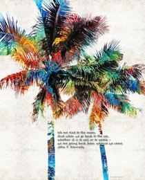 $enCountryForm.capitalKeyWord Australia - colorful-palm-trees-returning-home-Unframed Modern Canvas Wall Art for Home and Office Decoration,Painting ,Animal painting ,Frame painting