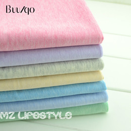 c5ae5581572 Colorful Cotton knitted Fabric by half meter Stretchy Cotton Jersey for DIY  dress T-shirt fashion clothing making cloth 50*170cm